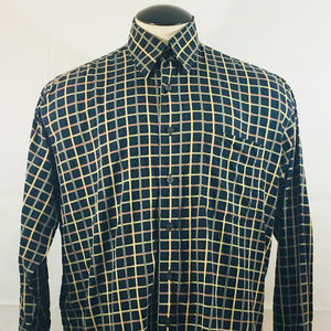 P11 Mens Alan Flusser Button Front Shirt! Sz Large